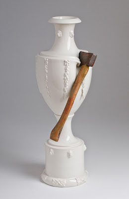 Escultura espectacular de porcelana- jarrón