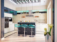 Home kitchen bar idea with middle island