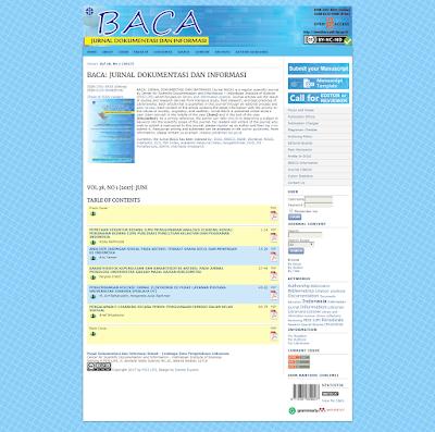 BACA Jurnal Dokumentasi dan Informasi LIPI
