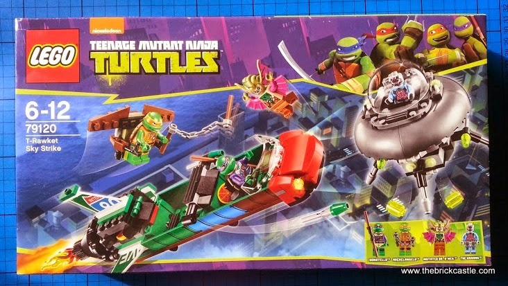TMNT Turtles LEGO set 78120 The T-Rawket Sky Strike Review