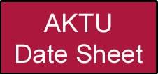 AKTU Polytechnic Date Sheet