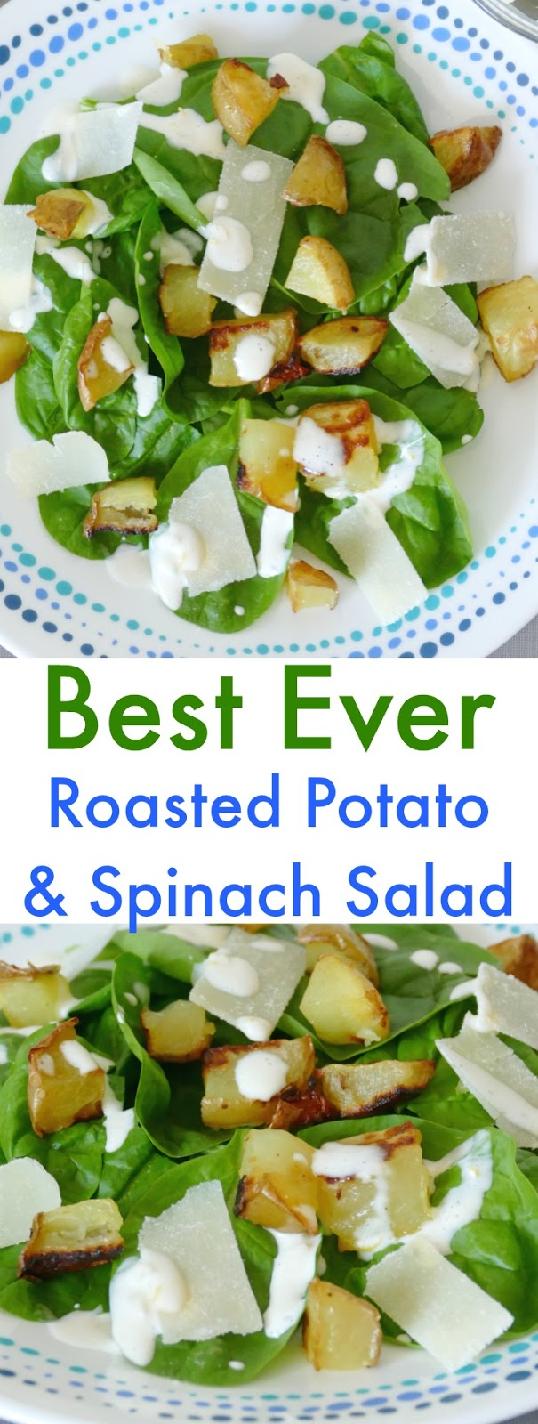 This best ever spinach salad is a perfect fall or winter lunch or dinner! It goes great with chicken or beef, sandwiches or soup! The sauce gets all it's amazing flavor from garlic and lemon zest!
