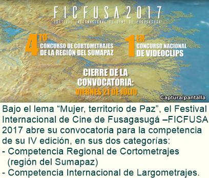 "IV FESTIVAL INTERNACIONAL DE CINE DE FUSAGASUGÁ ""Mujer, Territorio de Paz"""
