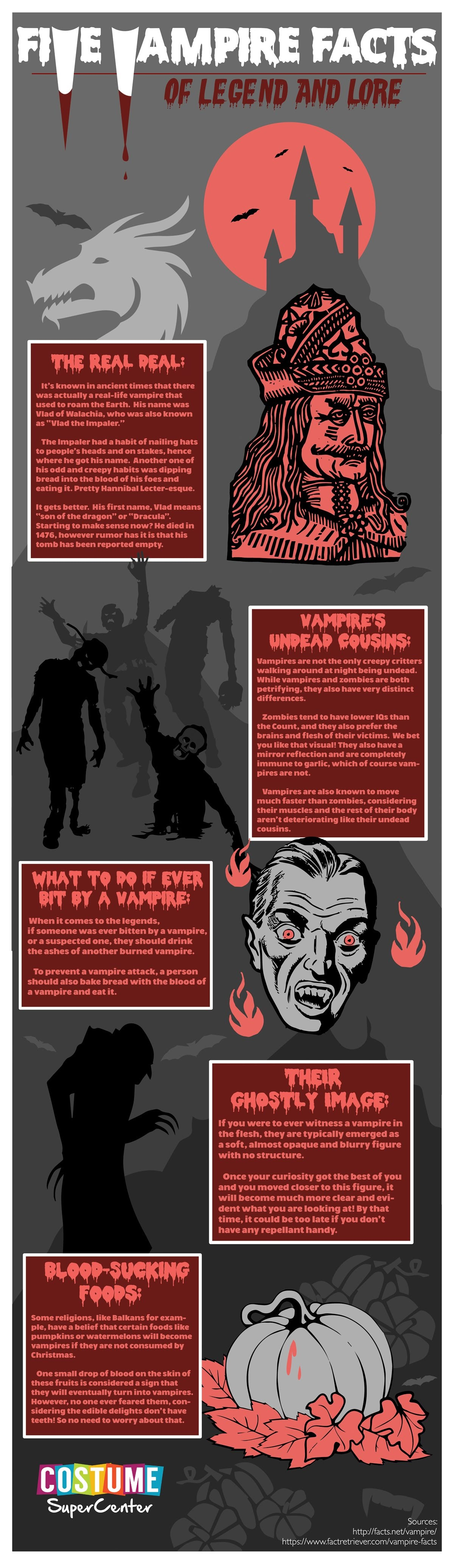 Five Vampire Facts Legend And Lore #Infographic