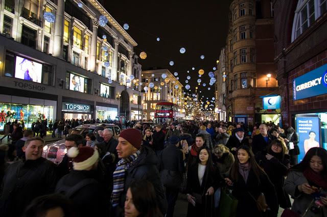 Oxfrod street con le luminarie natalizie-Londra