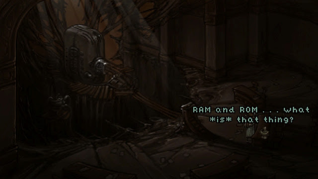 Screenshot of Arbiter from the game Primordia