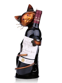 Tooarts Cat Shaped Wine Holder Wine Rack shelf Metal Sculpture Practical Home decoration Crafts by Tooarts.