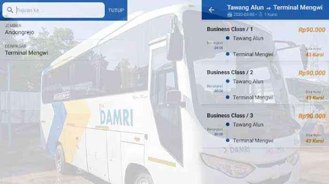 Bus Damri Jember Denpasar