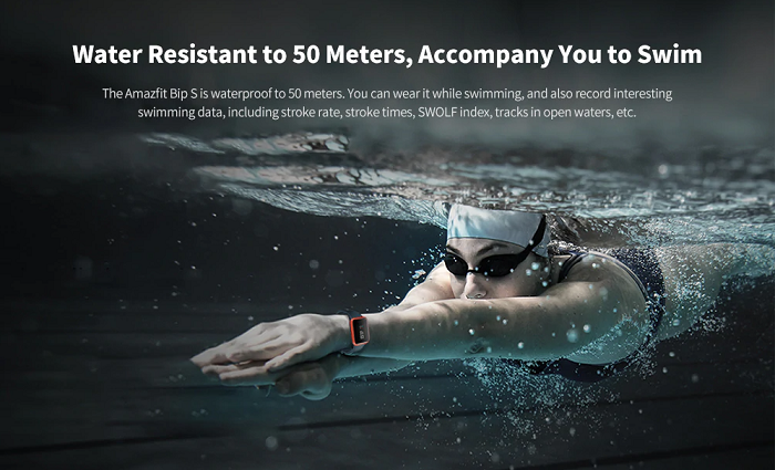Amazfit Bip S Smartwatch Swimming Water Resistance