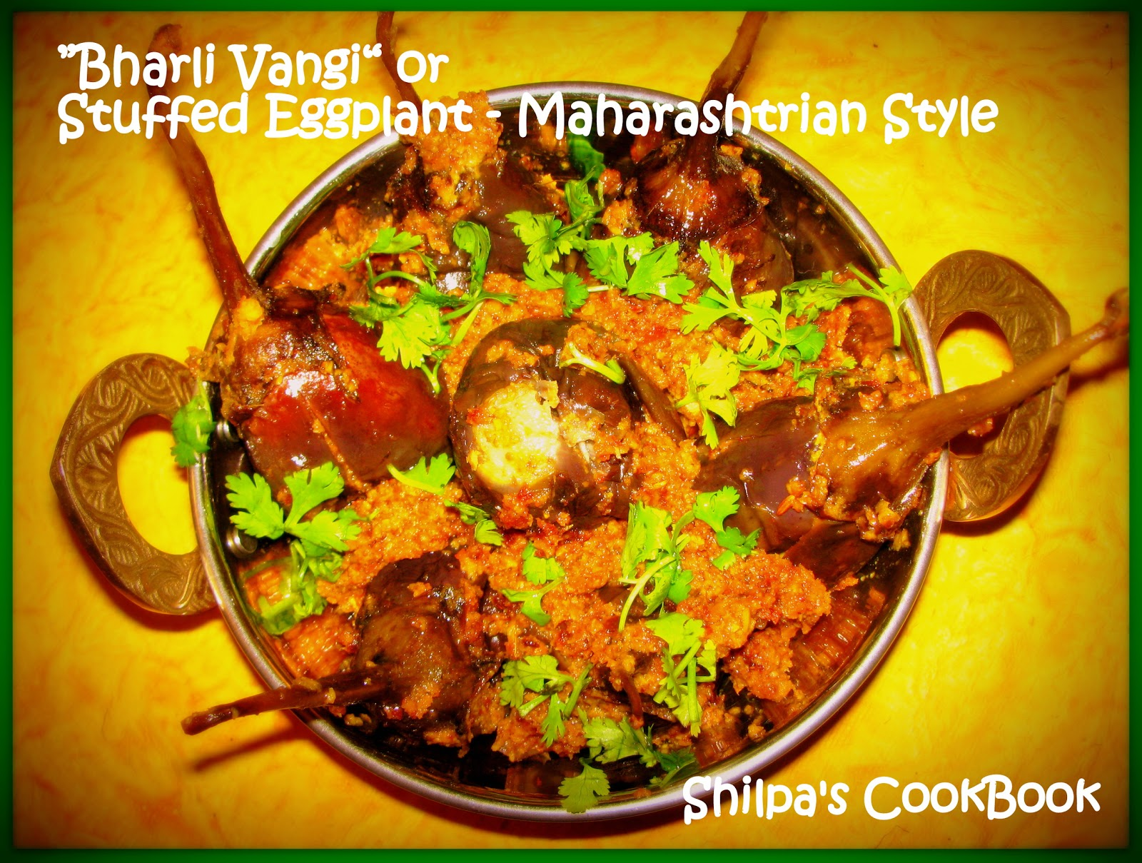 Cook book bharli vangi or stuffed eggplant maharashtrian style i have already posted my grannys brinjal masala dry which is my personal favorite but today i made this dish in the maharashtrian style forumfinder Choice Image