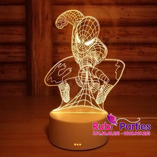 DEN LED 3D HINH SPIDER MAN (725)