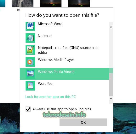Begini Cara Memunculkan Pilihan Open With Windows Photo Viewer Di Windows 10