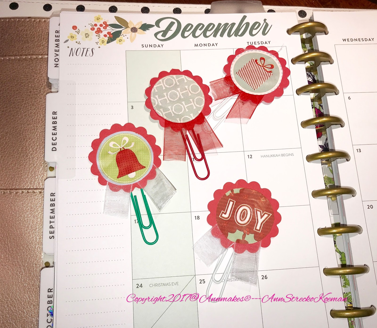 Annmakes®: How To Make Planner Paper Clips for December