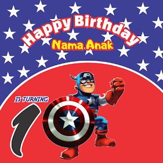 Banner Captain America