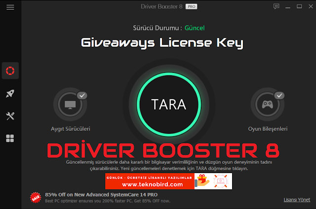 Driver Booster 8 PRO - Lisans Anahtarı