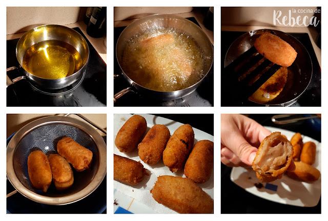 Receta de croquetas de cocido: fritura