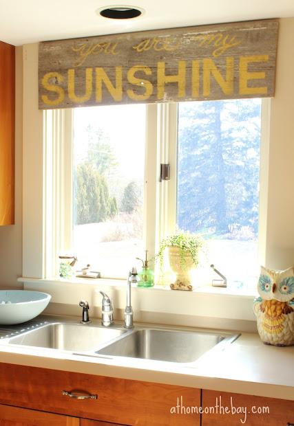 coastal style window valance kitchen treatments