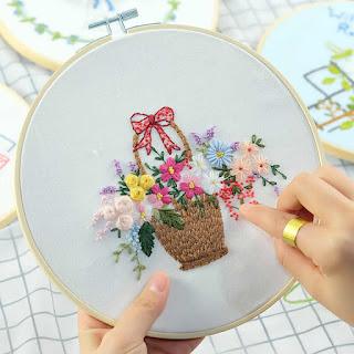 Image showing a cross stitch replicates a flowerpot design
