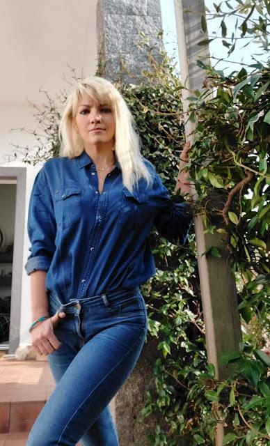 outfit primaverile outfit denim denim total outfit idee outfit primaverili camicia jeans pepe jeans scarpe supera outfit scarpe supera mariafelicia magno fashion blogger colorblock by felym fashion blogger italiane blog di moda italiani