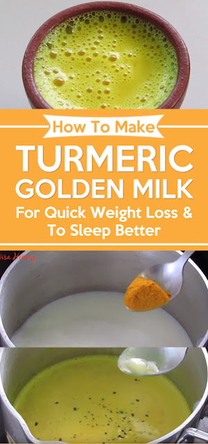 How To Make Turmeric Golden Milk – For Quick Weight Loss & To Sleep Better