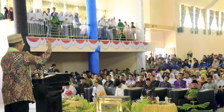 Menag Lukman beri kuliah umum di hadapan Civitas Akademika IAIN Sultan Amai Gorontalo.