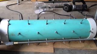 DIY lawn rolling aerator