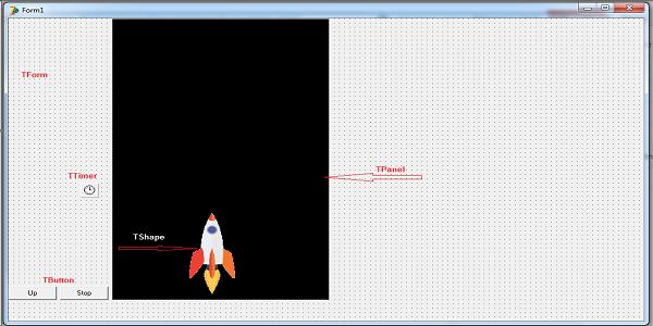 Desain Animasi Roket Sederhana