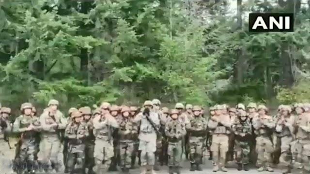 வீடியோ: அசாம் ரெஜிமென்ட்டின் இந்த சிறப்பு பாடலுக்கு அமெரிக்காவின் வீரர்கள் வந்தபோது
