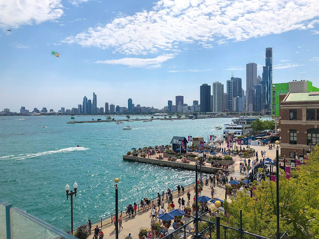 Chicago's skyline from Offshore at Navy Pier. Image credit Flo from Flo's Favorites.