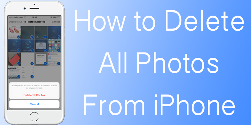 Bulk delete photos from your iPhone, iPad, iPod
