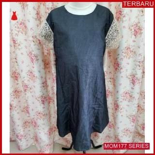 MOM177D16 Dress Hamil Menyusui Import Lace Dresshamil Ibu Hamil