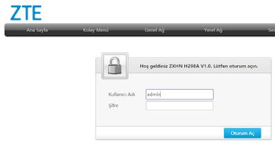 ZTE ZXHN H298A Fiber Modem Kurulumu