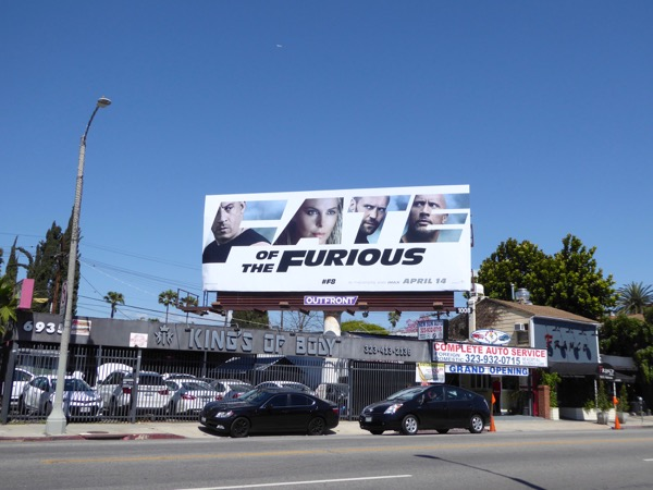 Fate of the Furious billboard