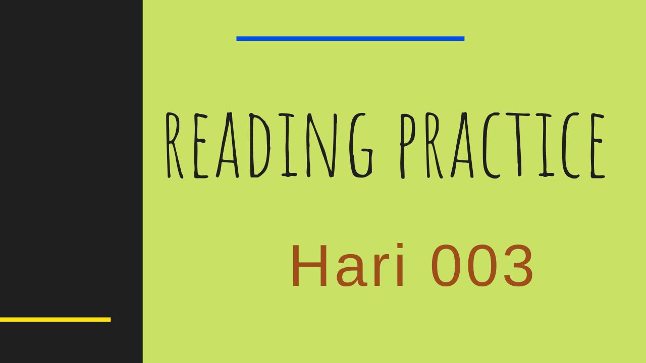 Latihan Pronunciation Bahasa Inggris Hari 03