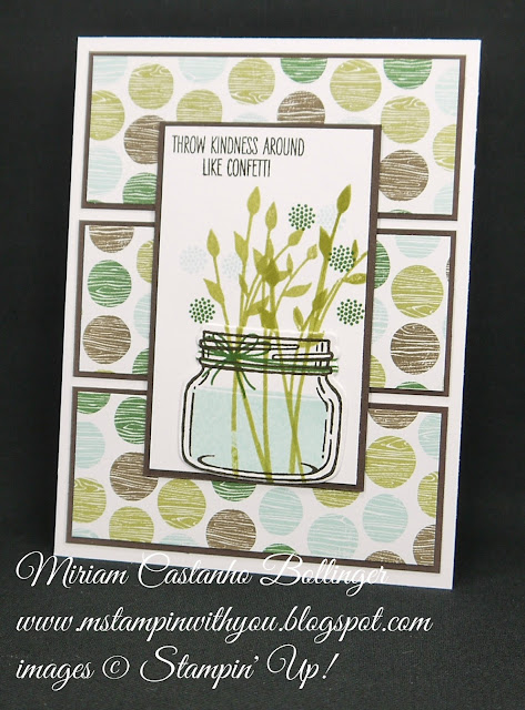 Miriam Castanho-Bollinger, #mstampinwithyou, stampin up, demonstrator, dsc, all occasions card, masculine card, coffee break dsp, jar of love stamp set, everyday jars framelit, big shot, su