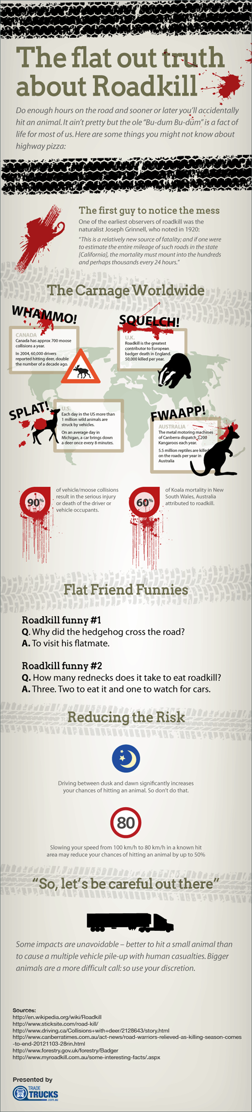The Truth About Road Kill   #infographic