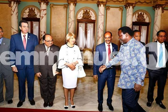 Exclusive Pictures Of Prophet T.B Joshua's Visit To President Of Dominican Republic, Danilo Medina
