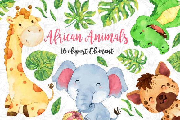 African Animals Clipart Set 2