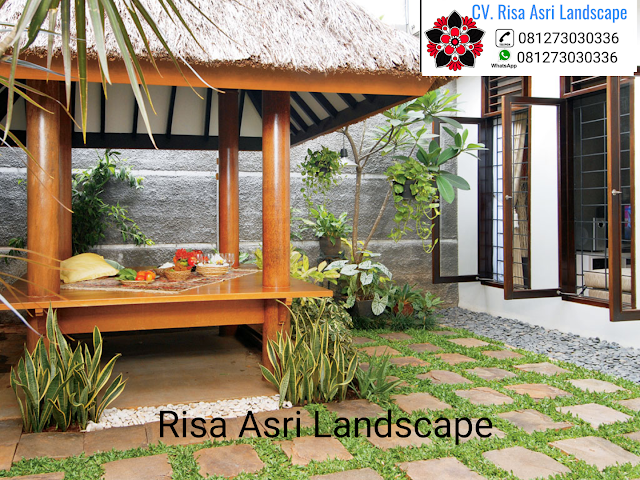 cv. risa asri landscape gambar desain taman saung gasebo pergola
