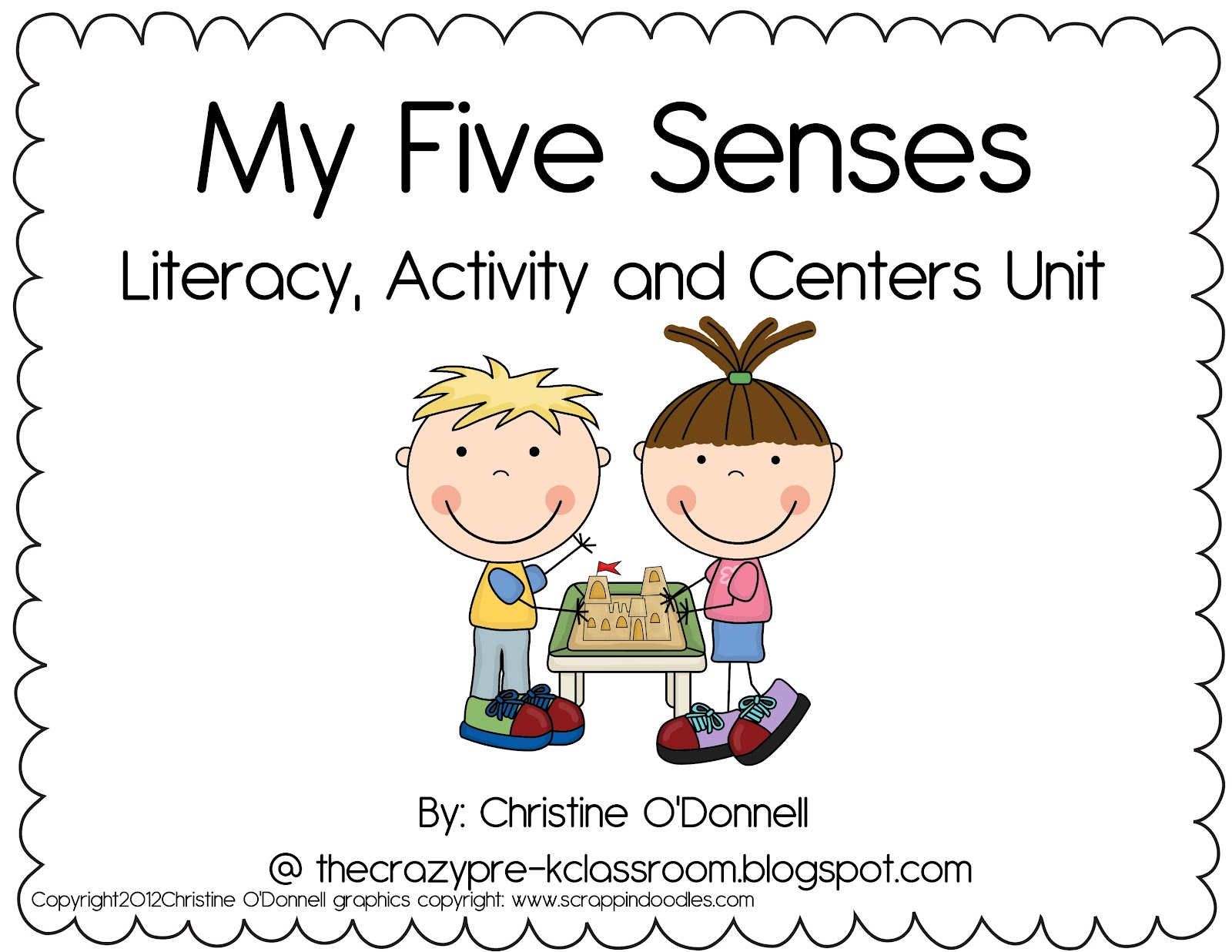 The Crazy Pre K Classroom My 5 Senses Unit And A Freebie