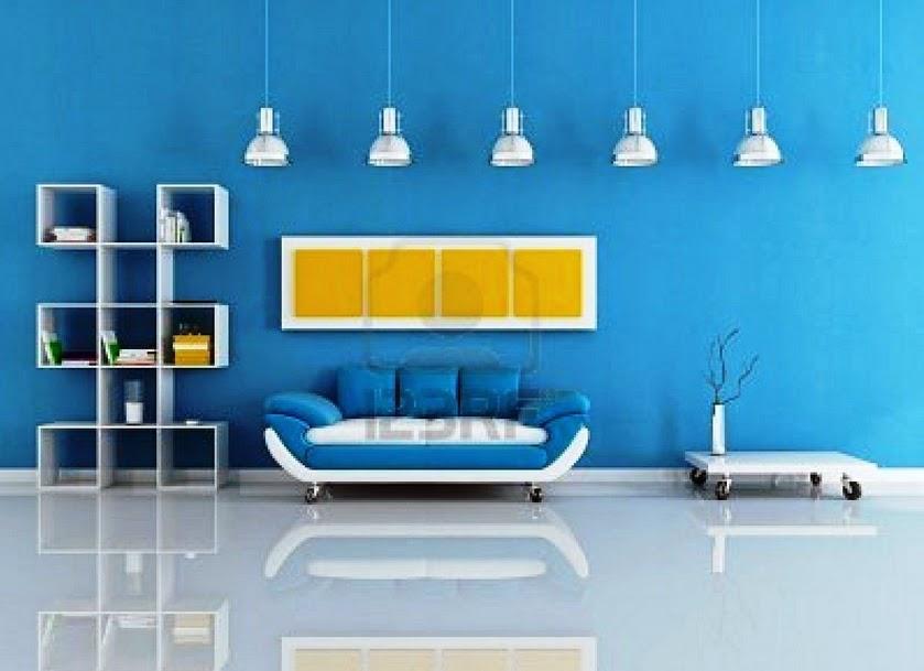 Cat Ruang Tamu Warna Biru Desainrumahid