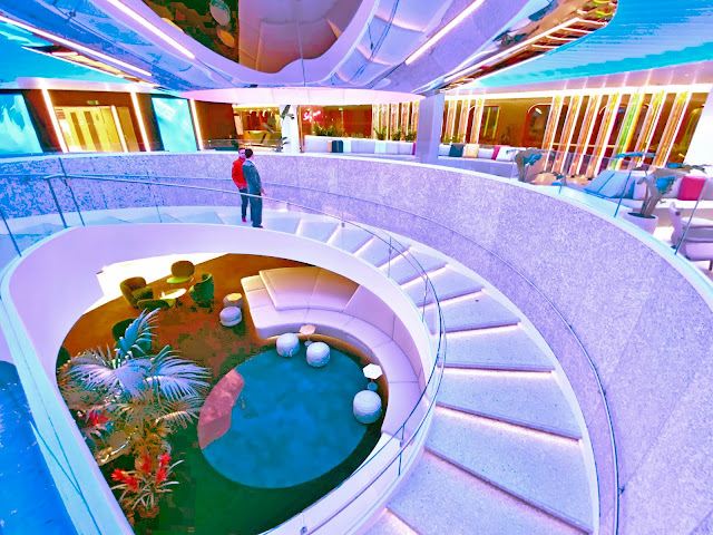 Virgin Voyages Scarlet Lady Review Atrium Roundabout