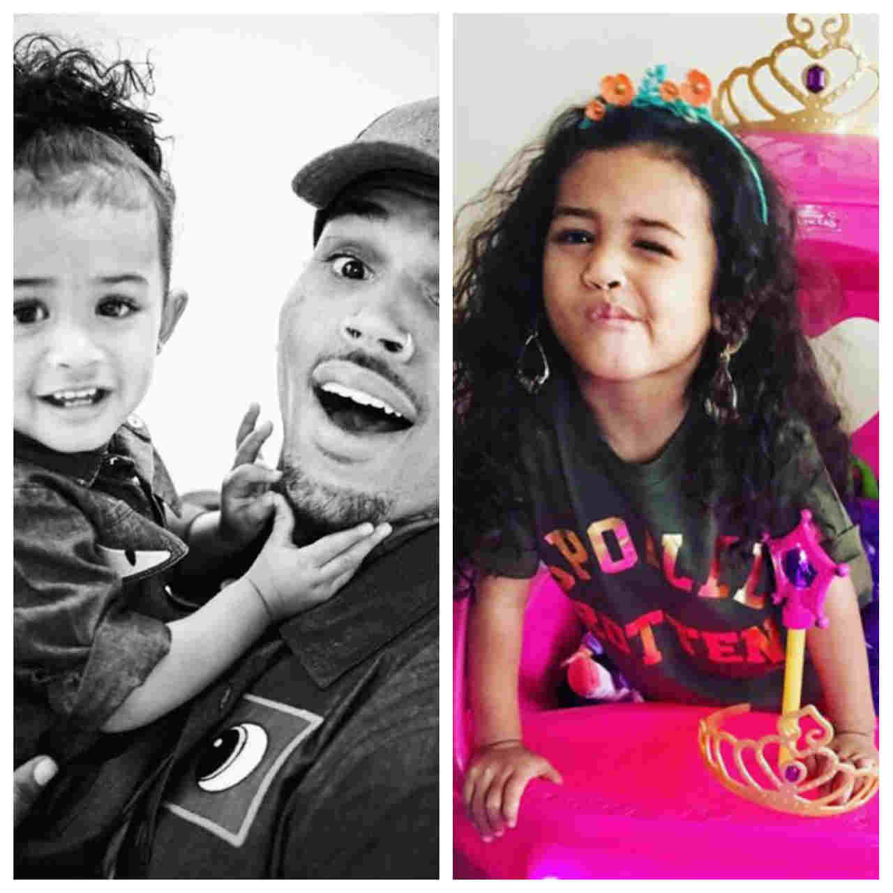 Chris Brown shares cute photo of his daughter, Royalty ...