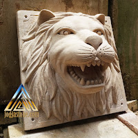 patung air mancur kepala singa