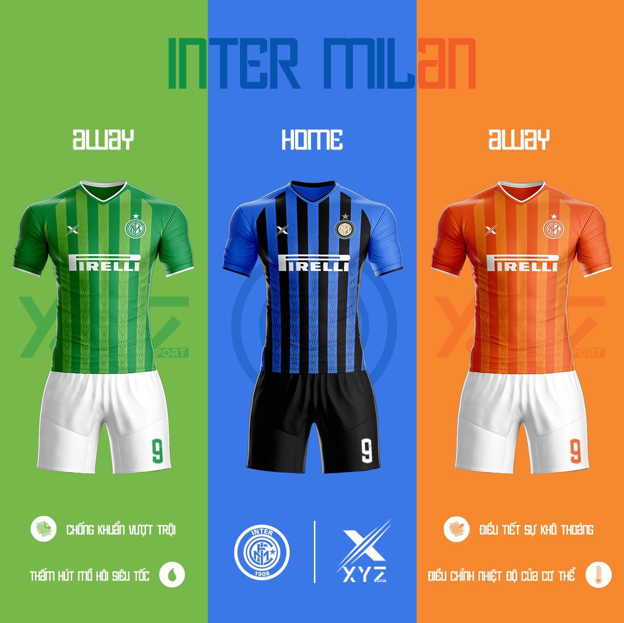 Áo Đấu Bóng Đá Inter Milan Tự Thiết Kế Đẹp Và Độc - Mã IM01
