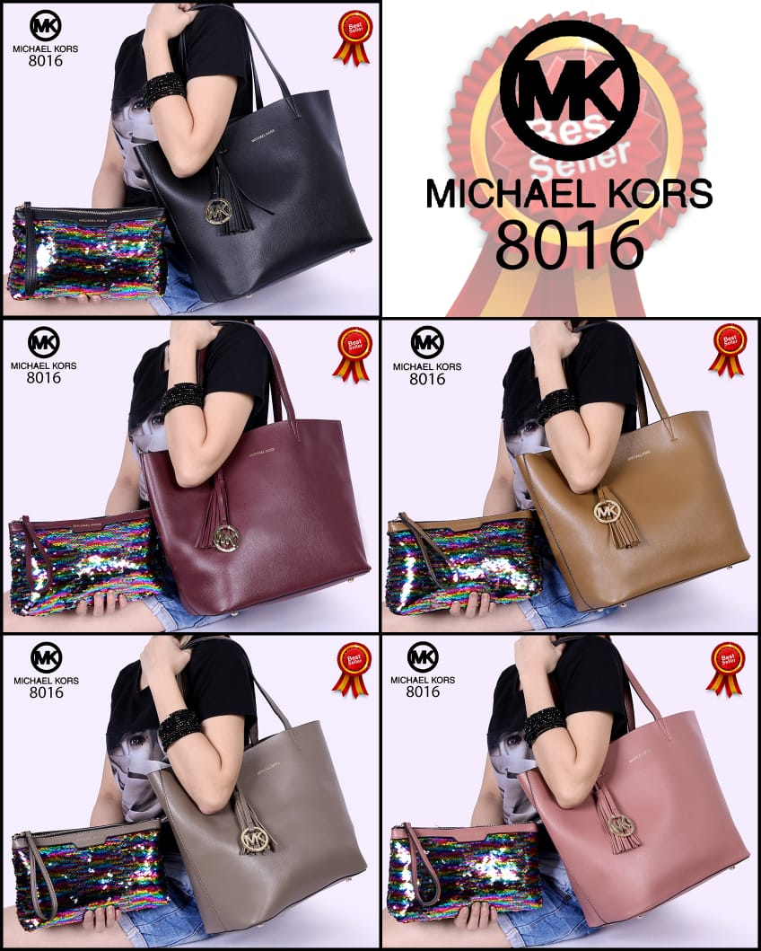 Kode GI 004 : MICHAEL KORS Specchio Shopping TOTE 2in1 Soft Togo Leather Hardware Gold 8016