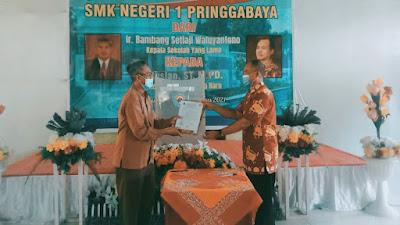 SMKN 1 Pringgabaya Serah Terima Jabatan Kepala Sekolah