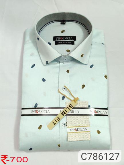Cotton Printed Slim Casual Shirt