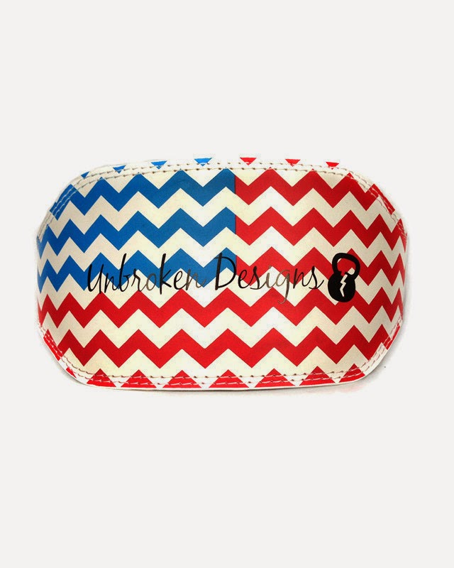 STyle Athletics Unbroken DEsigns Weightlifting Belt CrossFit Olympic Lifting Chevron Red White Blue