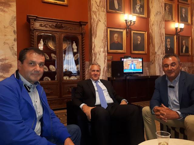 Με τον ΥΠΠΑΤ κ. Μάκη Βορίδη τον Πρόεδρο του ΕΛΓΑ κ. Ανδρέα Λυκουρέντζο είχε συνάντηση αντιπροσωπεία του Δ.Σ. του Αγροτικού Συλλογου Βεροιας.